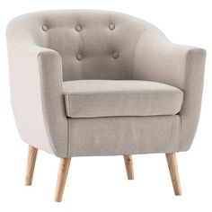 Fulham Tufted Armchair in Beige
