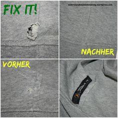 Löcher im Sweater fast unsichtbar reparieren [Tutorial]