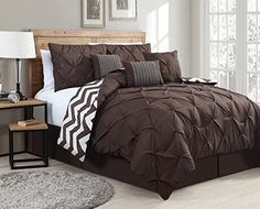 Geneva Home Fashion 7-Piece Ella Pinch Pleat Comforter Set, Queen, Chocolate Brown Geneva Home Fashion http://www.amazon.com/dp/B00U0WIEZG/ref=cm_sw_r_pi_dp_1wRpvb0RY247R