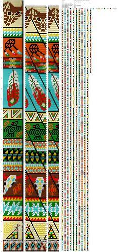 Tribal Loom bead, alpha pattern, or cross stitch chart