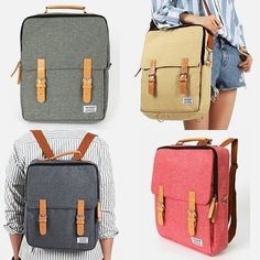 3 Way Bag School Bags Laptop Backpacks for College Korean Style Backpack | Schulranzen | Rucksäcke für die Uni oder Schule