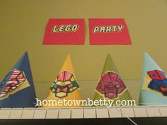 How to Make Simple Chima Party Hats #birthday #papercraft #kids