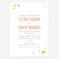 Sprinkled Wedding Invitations