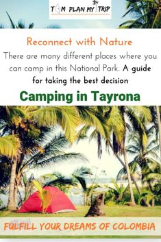 Camping in Tayrona National Park: The best spots Travel Jobs, Ways To Travel, Best Places To Travel, Travel Advice, Travel Guides, Tayrona National Park, European City Breaks, Plan My Trip, Cities In Europe