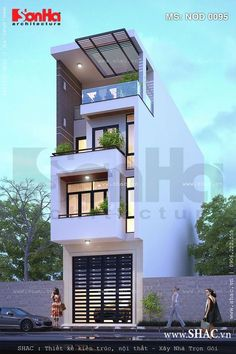 Would be cool as a town house Building Elevation, House Elevation, House Front Design, Modern House Design, Contemporary Architecture, Architecture Design, Narrow House Designs, Casas Containers, Facade House