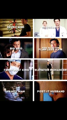 The many sides of Derek Sheperd...
