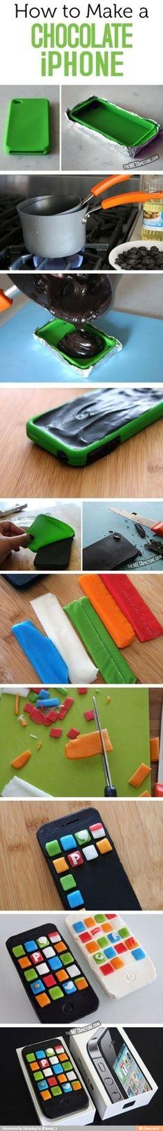 DIY Chocolate iPhone
