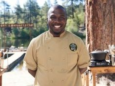 Meet the Chefs Competing on Camp Cutthroat Alton's Revenge : Food Network Cutthroat Kitchen, Catering Business, Alton Brown, Revenge, Chefs, Food Network Recipes, Phoenix, Chef Jackets, Bbq