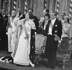 Koningin Beatrix tijdens eedsaflegging / Queen Beatrix during swearing