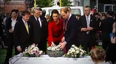 William & Kate each lay a stone as a tribute to Christchurch victims. 4/15/14