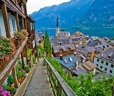 Hallstatt, Austria The storybook town of Hallstatt in central Austria enjoys a gorgeous setting on the bank of the Hallstätter See, between ...