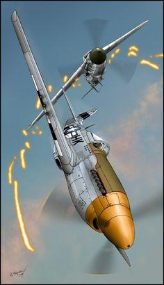 Dogfight P-51D Me 109G by Hikaru84.deviantart.com on @deviantART