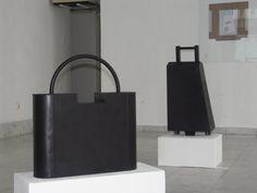 Minimalist Sculpture 'Lock' City Luggage Associative by ARALICA #art