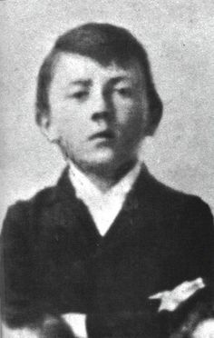 Adolf Hitler as a child.