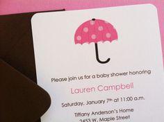 Handmade Girl Baby Shower Invitation  Pink by kellylaurendesigns, $2.00