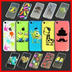 Assorted Pattern Cartoon Clear Soft Back Phone Case Cover for Apple iPhone 5C #UnbrandedGeneric