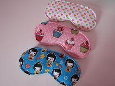 Máscaras de dormir. Loja: www.elo7.com.br/chiquetosa