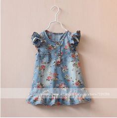 Y 1150834 Retail New 2015 Summer Girl Floral Dress Denim Ruffles Casual Sleeveless Girls Dress Printing Flowers Clothes Lot - http://www.aliexpress.com/item/Y-1150834-Retail-New-2015-Summer-Girl-Floral-Dress-Denim-Ruffles-Casual-Sleeveless-Girls-Dress-Printing-Flowers-Clothes-Lot/32296336788.html