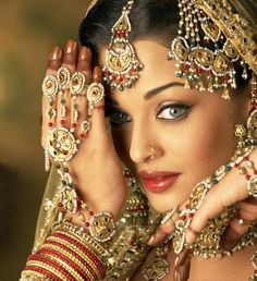 indian beauty. She is a famous bolywood actress who was voted most beautiful woman in the world and I can't remember her name for the life of me