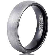 MNH Mens 6mm Comfort Fit Tungsten Carbide Wedding Band Black Brushed Matte Finish Rings Size 9 MNH http://smile.amazon.com/dp/B0192XO17I/ref=cm_sw_r_pi_dp_KxpWwb0P8G2GS