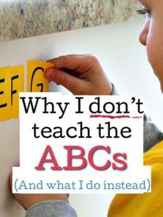 Why I don't teach the ABCs