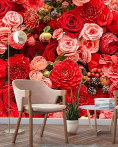 I'm gonna pretend it feels like Spring outside when we are really having another blissfully rainy day to help fill up our thirsty dams. When Us, Wall Design, The Outsiders, Fill, Floral Wreath, Wreaths, Feelings, Wallpaper, Spring