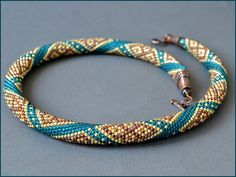 Bead Crochet Necklace Thoughts about India by Chudibeads on Etsy, $70.00