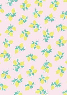 Lemons pattern S/S15 - Rice.dk by Studio Sjoesjoe