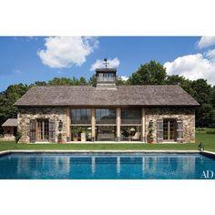 "351 Likes, 10 Comments - AshleyDarryl (@ashleydarryl) on Instagram: ""I'm ready for summer! Love this pool house by Architect Gil Schafer @archdigest"""