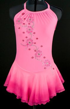 Custom Figure Skating Dress w/ Clarus Crystals