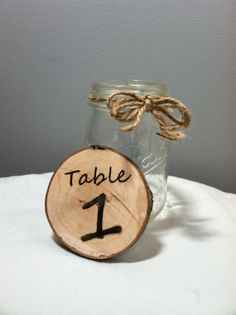 Wood Disc Wedding Table Numbers (Rustic / Country) NEW FONTS on Etsy, $2.50