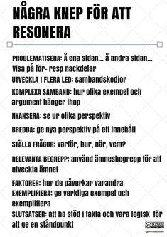 Några knep för att resonera av Annika Sjödahl