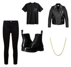 """""""Inspired by G-Eazy"""" by directioner-792 on Polyvore featuring Paige Denim, Hurley, Dr. Martens, Lord & Taylor and Yves Saint Laurent"""