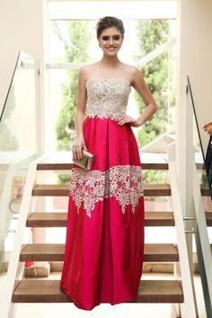 vestido de festa vermelho 2016