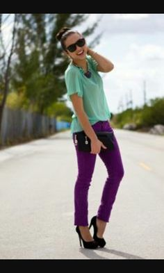 bb627d8adab mint paired w violet.delicious color combo grounded by black pumps