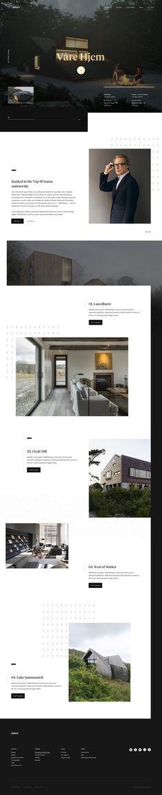 Åsnes Webdesign by Andrew Baygulov Minimal Web Design, Ui Ux Design, Layout Design, Modern Minimalist, Minimalist Design, Inspiration Design, Branding, Landing Page Design, Flat