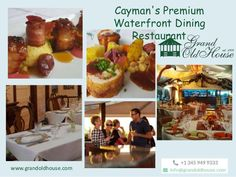 Enjoy leisurely lunch or romantic dinner by the sea in the Cayman Islands. http://www.grandoldhouse.com/
