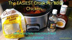crock pot bbq chicken with macro count