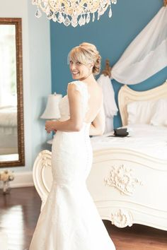 """Lindsay Richardson from Port Perry, Ontario, Canada wearing out """"Brooke"""" gown!"""