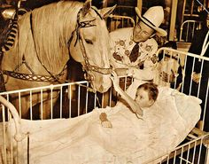 Roy Rogers and Trigger with a Polio Victim in Pittsburgh in the ealy 50s when Polio was Rampant in the U.S.