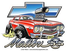1965 Chevrolet Chevelle #Chevrolet #Chevy #Chevelle #Malibu #cartoon #artwork
