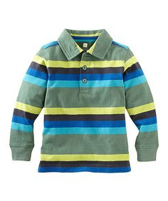 Another great find on #zulily! Pine Stripe Moganshan Polo - Infant, Toddler & Boys #zulilyfinds