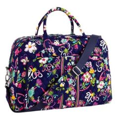 """The Vera Bradley Weekender in """"Ribbons"""" - for breast cancer awareness.  I really want this!"""