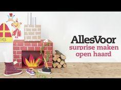 Knutselen voor Sinterklaas: een kartonnen schoorsteen als surprise. - Instructies - Weethetsnel.nl