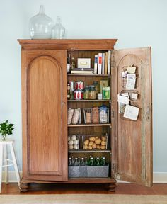 Turn an Armoire into a Pantry: No need for built-ins. Stand-alone storage, like this armoire-turned-cupboard, is one of the latest kitchen trends.