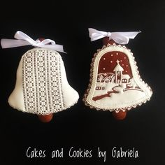 """Cake and cookies by Gabriela on Instagram: """"Traditional Slovak decorated cookies #christmascookies #cakesandcookiesbygabriela #christmascookies #lovechristmas"""" Decorated Cookies, Cookie Decorating, Decorative Bells, Christmas Cookies, Cakes, Traditional, Instagram, Xmas Cookies, Christmas Crack"""
