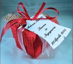 1 Scatola bomboniera Laurea con confetti