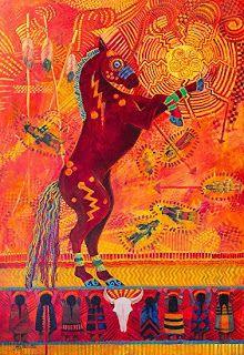 "Wildlife Art International: Contemporary Western Art ,Equine Painting ""SITTING BULL'S DANCING HORSE"" by Colorado Landscape Artist Nancee Jean Busse"