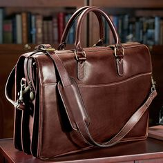 Tusting Briefbag - Leather Briefcase, Men's Briefcase - Levenger. Maybe someday, once I have a career and he is a professor hehe.