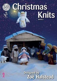 King Cole Christmas Knits Book 3 by Zoe Halstead Mary Joseph and Jesus Angel Shepherd Sheep and Donkey The Three Wise Men Christmas Tree Tea Cozy